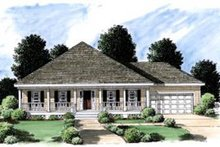 Cottage Exterior - Front Elevation Plan #37-131