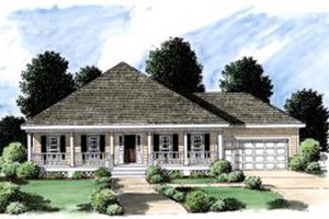 House Design - Cottage Exterior - Front Elevation Plan #37-131