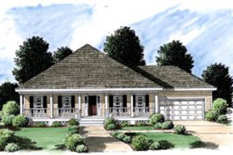 Cottage Exterior - Front Elevation Plan #37-131 - Houseplans.com