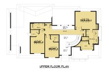 Modern Floor Plan - Upper Floor Plan Plan #1066-53