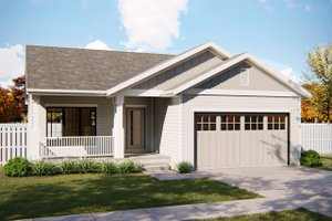 Ranch Exterior - Front Elevation Plan #455-226