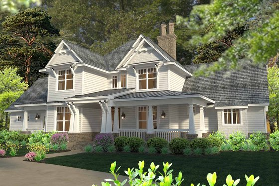 House Plan Design - 2500 sft traditional country house by David Wiggins