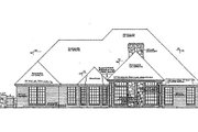 European Style House Plan - 4 Beds 3.5 Baths 2585 Sq/Ft Plan #310-851 Exterior - Rear Elevation