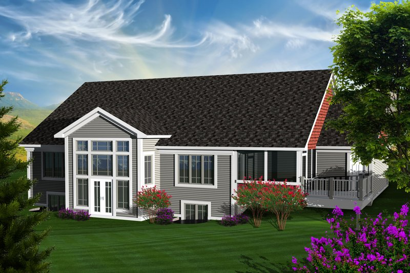 Ranch Exterior - Rear Elevation Plan #70-1124 - Houseplans.com