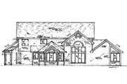 European Style House Plan - 3 Beds 3.5 Baths 2596 Sq/Ft Plan #421-147 Exterior - Rear Elevation