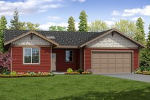 Ranch Exterior - Front Elevation Plan #124-1061