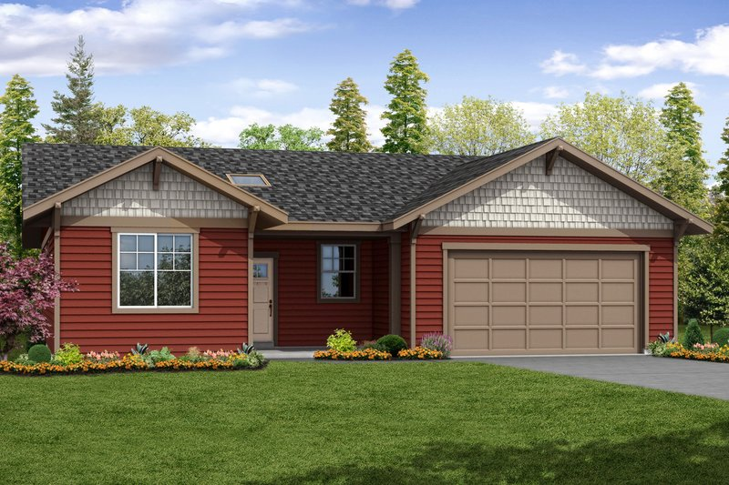 Home Plan - Ranch Exterior - Front Elevation Plan #124-1061