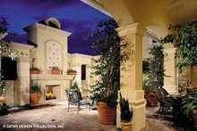 Mediterranean Exterior - Outdoor Living Plan #930-190