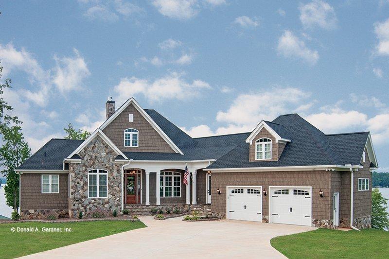 Home Plan - Craftsman Exterior - Front Elevation Plan #929-26