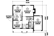 Country Style House Plan - 3 Beds 1 Baths 1895 Sq/Ft Plan #25-4791 Floor Plan - Main Floor Plan