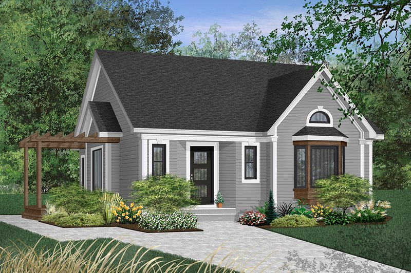Home Plan - Cottage Exterior - Front Elevation Plan #23-599
