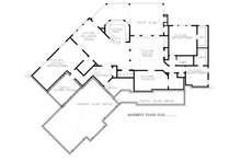 Craftsman Floor Plan - Lower Floor Plan Plan #54-381
