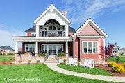 Craftsman Style House Plan - 5 Beds 4 Baths 3112 Sq/Ft Plan #929-839 Exterior - Rear Elevation