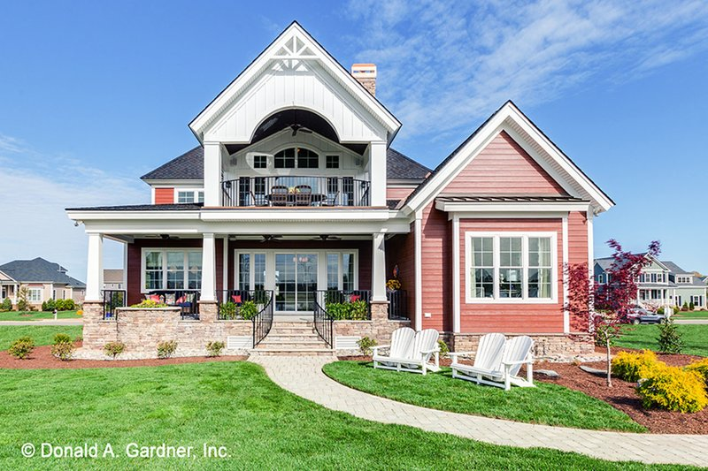 Craftsman Exterior - Rear Elevation Plan #929-839 - Houseplans.com