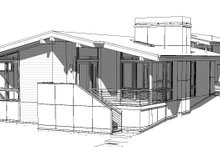 Modern Exterior - Front Elevation Plan #895-110