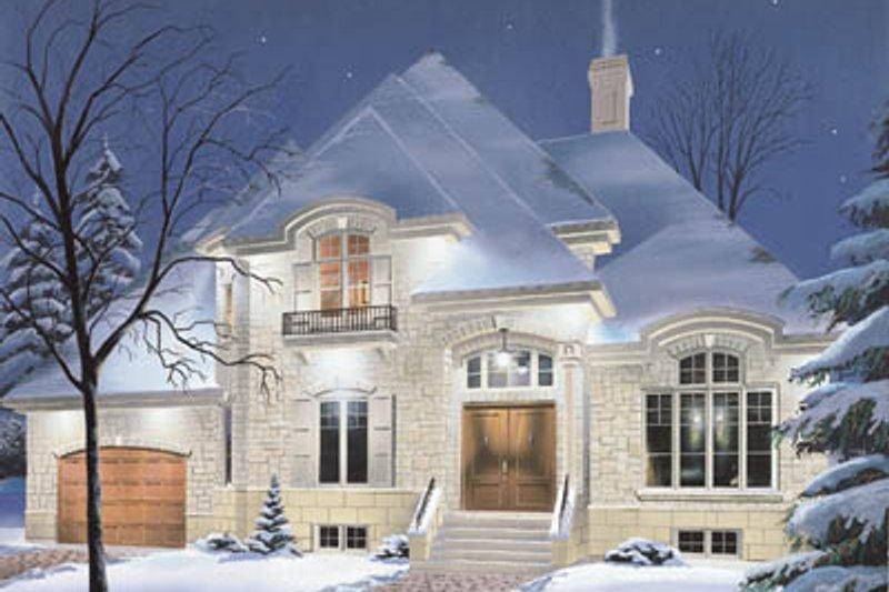 Architectural House Design - European Exterior - Front Elevation Plan #23-2012