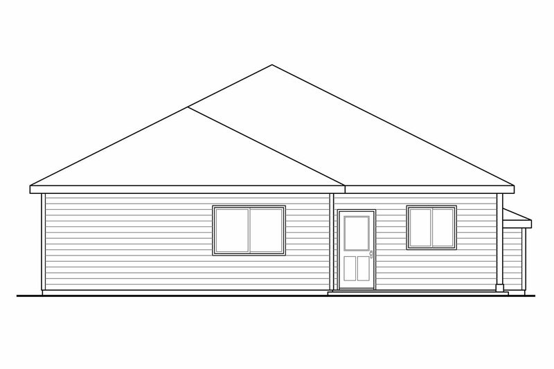 Traditional Exterior - Rear Elevation Plan #124-912 - Houseplans.com