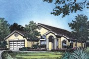 Mediterranean Style House Plan - 3 Beds 2 Baths 1590 Sq/Ft Plan #417-124 Exterior - Other Elevation
