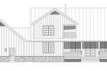 Country Exterior - Rear Elevation Plan #932-68