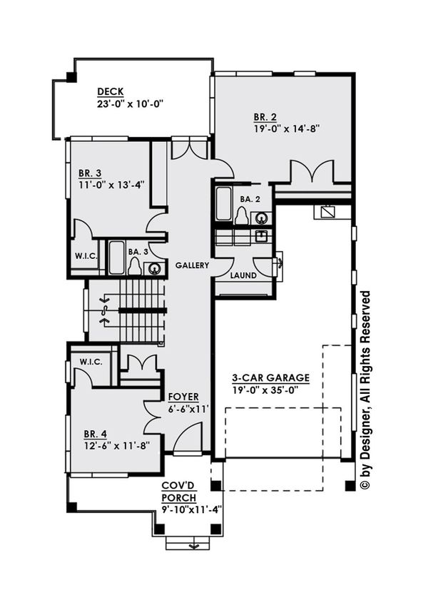 Contemporary Floor Plan - Main Floor Plan Plan #1066-31