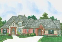 Architectural House Design - European Exterior - Front Elevation Plan #310-1308