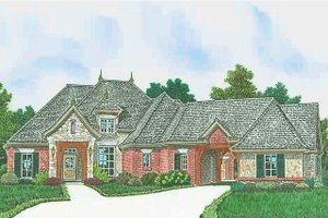 European Exterior - Front Elevation Plan #310-1308