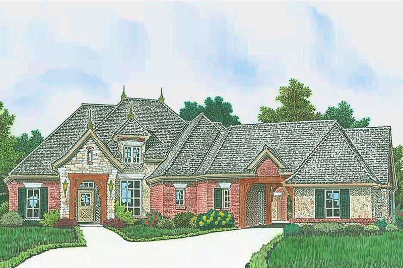 Dream House Plan - European Exterior - Front Elevation Plan #310-1308