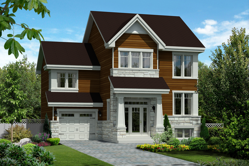 Traditional Style House Plan - 3 Beds 1 Baths 1599 Sq/Ft Plan #25-4663 Exterior - Front Elevation