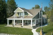 Bungalow Style House Plan - 3 Beds 2.5 Baths 2904 Sq/Ft Plan #928-330 Exterior - Rear Elevation