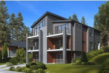 Contemporary Exterior - Other Elevation Plan #1066-71