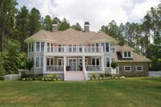 Country Style House Plan - 3 Beds 3.5 Baths 3528 Sq/Ft Plan #930-10 Exterior - Rear Elevation