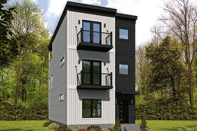 Home Plan - Contemporary Exterior - Front Elevation Plan #932-319