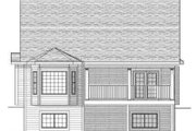 Ranch Style House Plan - 2 Beds 2 Baths 1734 Sq/Ft Plan #70-658 Exterior - Rear Elevation