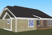 Craftsman Style House Plan - 3 Beds 2 Baths 1824 Sq/Ft Plan #51-516 Exterior - Rear Elevation