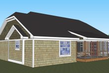 Craftsman Exterior - Rear Elevation Plan #51-516