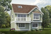 Country Style House Plan - 1 Beds 1 Baths 1551 Sq/Ft Plan #47-1079