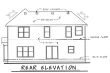 Architectural House Design - Traditional Exterior - Rear Elevation Plan #20-1775