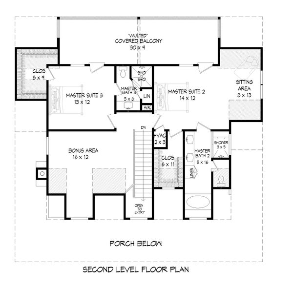 Country Floor Plan - Upper Floor Plan Plan #932-43