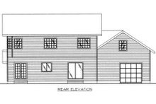 House Plan Design - Country Exterior - Rear Elevation Plan #117-282