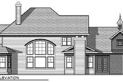 Traditional Style House Plan - 4 Beds 3.5 Baths 3945 Sq/Ft Plan #70-886 Exterior - Rear Elevation