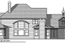 Home Plan - Traditional Exterior - Rear Elevation Plan #70-886