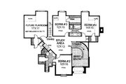 European Style House Plan - 4 Beds 3.5 Baths 3936 Sq/Ft Plan #310-601 Floor Plan - Upper Floor Plan