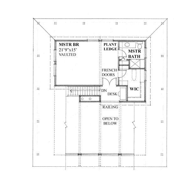 House Plan Design - Cottage Floor Plan - Upper Floor Plan #118-173