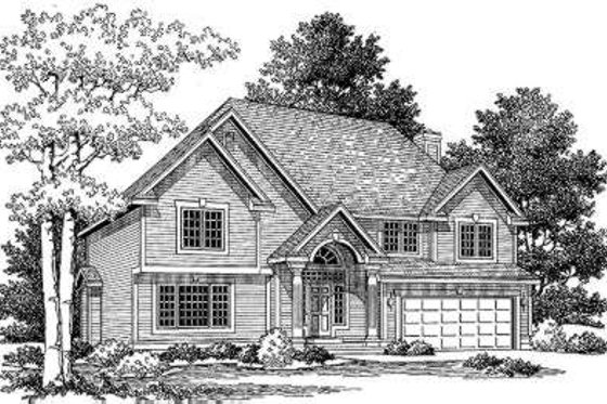 Traditional Exterior - Front Elevation Plan #334-109