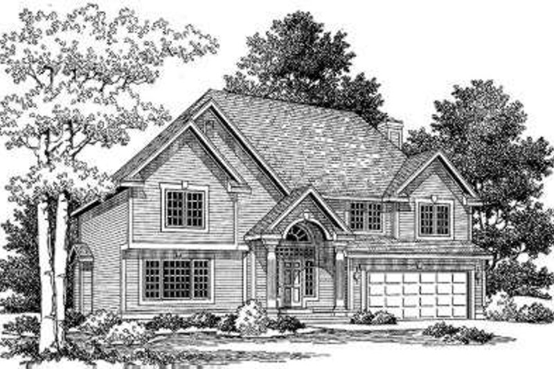 Traditional Style House Plan - 4 Beds 2.5 Baths 2314 Sq/Ft Plan #334-109 Exterior - Front Elevation