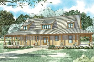 Country Exterior - Front Elevation Plan #17-3431
