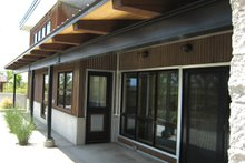 Modern Exterior - Covered Porch Plan #451-18