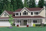 Farmhouse Style House Plan - 4 Beds 3 Baths 2904 Sq/Ft Plan #126-105 Exterior - Other Elevation