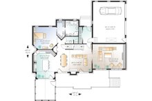 Craftsman Floor Plan - Main Floor Plan Plan #23-419