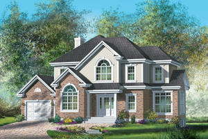Traditional Exterior - Front Elevation Plan #25-4716